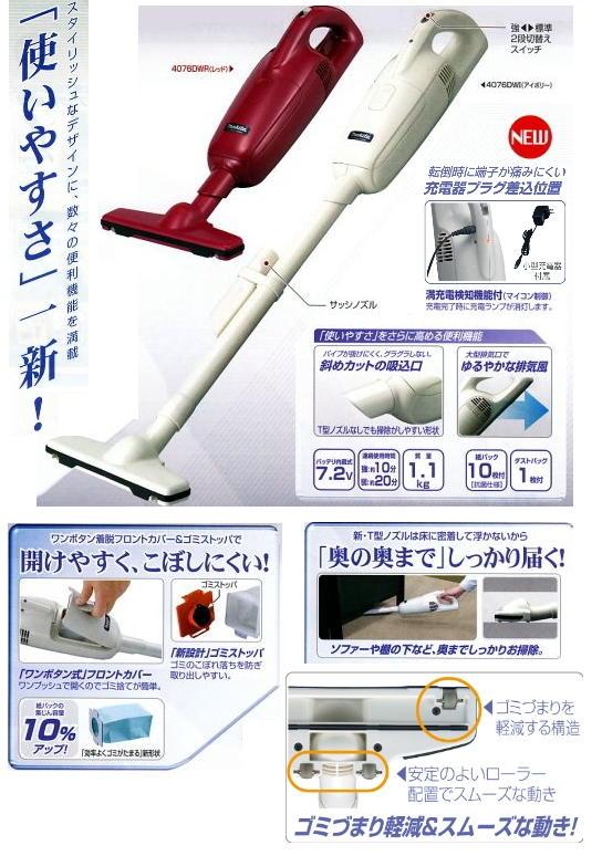 マキタ 充電式クリーナ 4076DWI / R