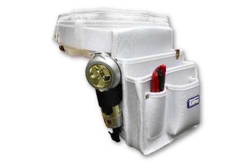 職人さん 腰袋+ベルト+腰当てクッションセット(ホワイト)