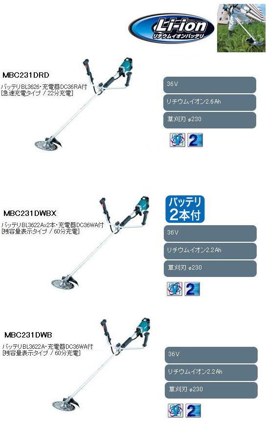 マキタ 36V充電式草刈機 MBC231D