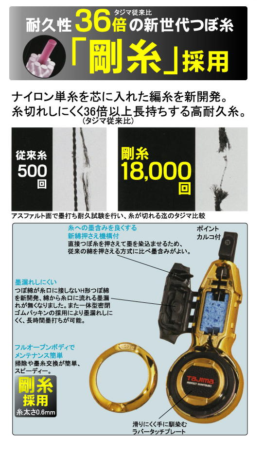 タジマ パーフェクト墨つぼ EVO-X