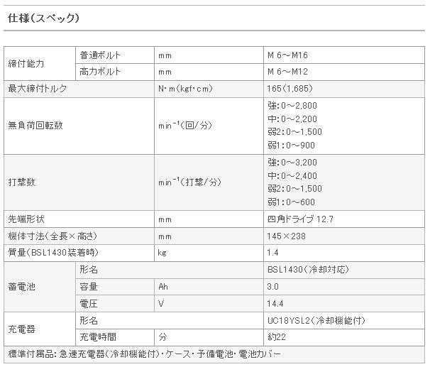 日立 14.4V コードレスインパクトレンチ WR14DBAL2