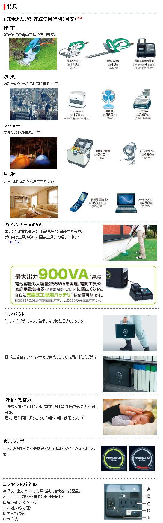 マキタ ポータブル電源 PAC100