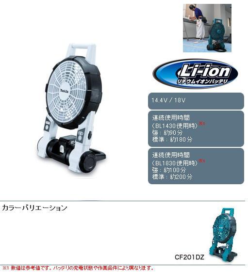 マキタ 充電式ファン CF201DZ