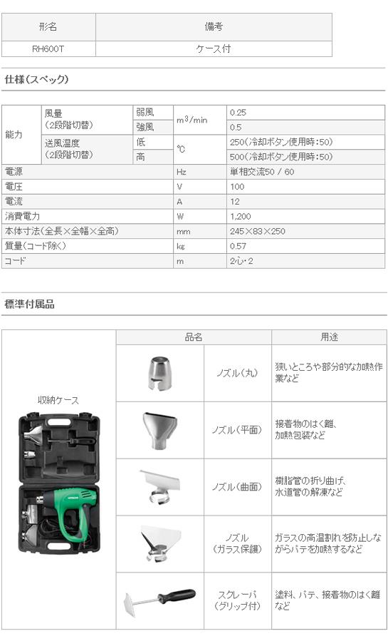 日立 ヒートガン RH600T