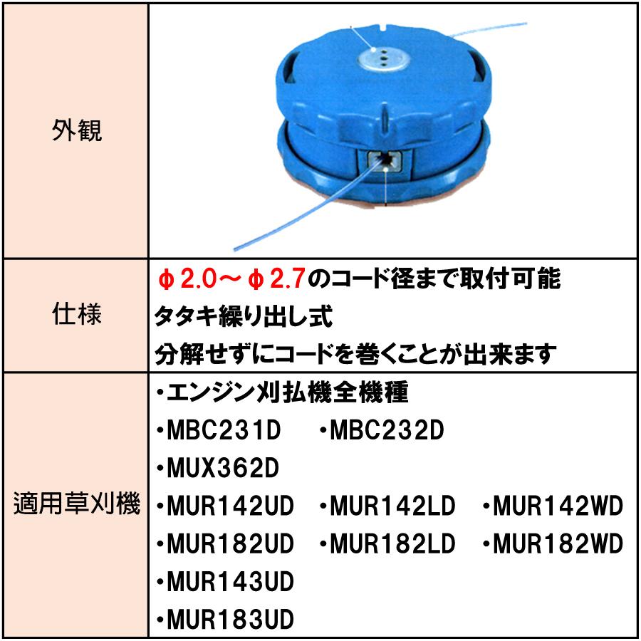 マキタ タタキ繰出式 楽巻きナイロンコードカッタ A-55164