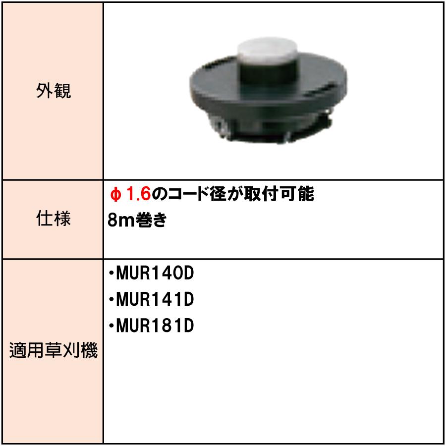 マキタ ナイロンコード付きスプール 8m巻き  A-53067