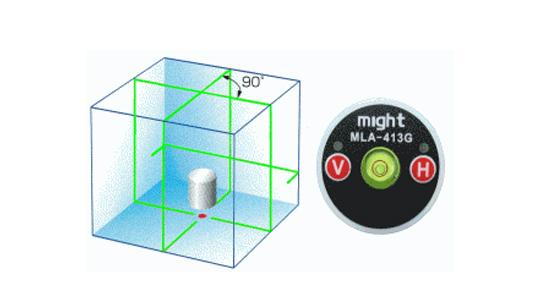 マイト工業 グリーンレーザー墨出し器 MLS-413G