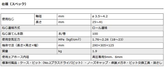 日立 高圧ねじ打機 WF4H3