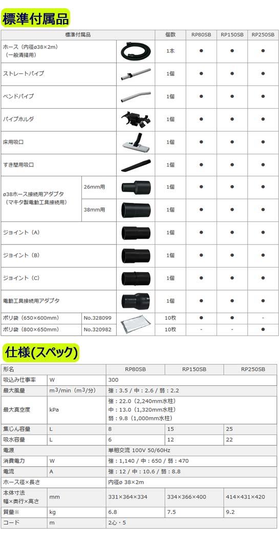 日立 電動工具用集じん機 RP80SB