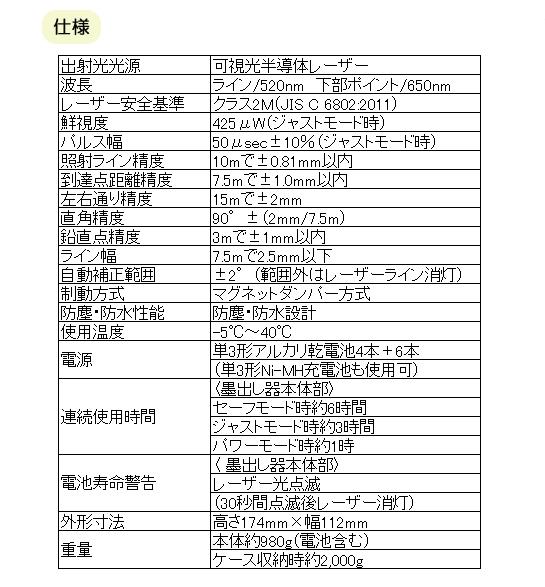 タジマ グリーンレーザー GEEZA-KY