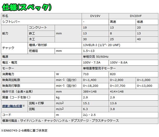 日立 振動ドリル DV19V