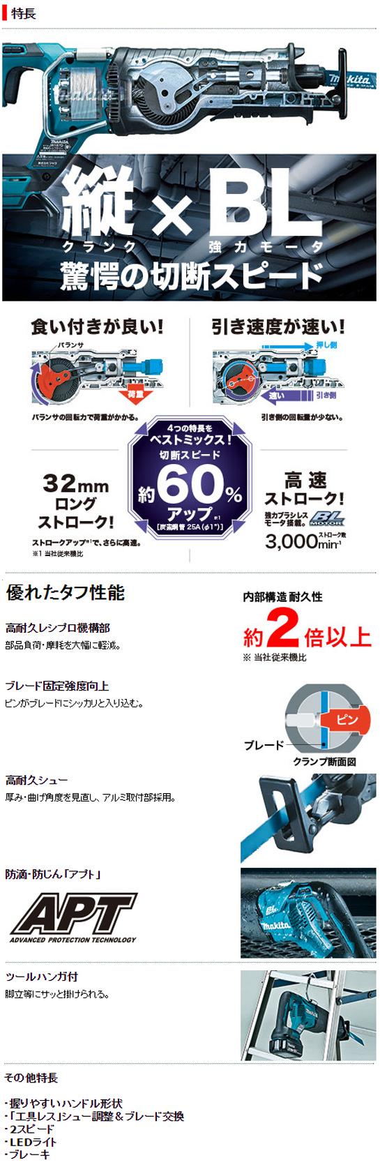 マキタ 18V充電式レシプロソー JR187D