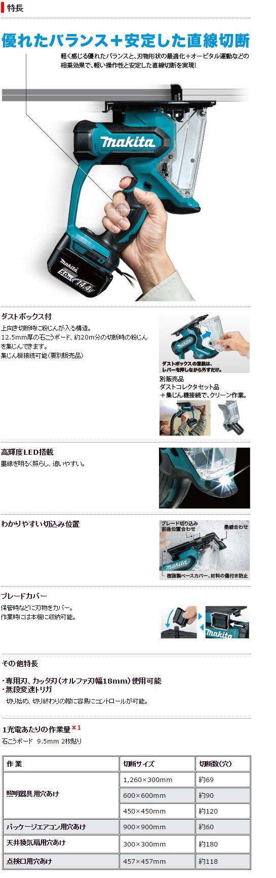 マキタ 14.4V充電式ボードカッタ SD140DRGX