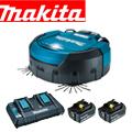 マキタ ロボットクリーナーRC200DZSP 6.0Ahバッテリー2個&充電器付きフルセット
