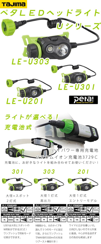 タジマ ペタLEDヘッドライト LE-U301/303/201