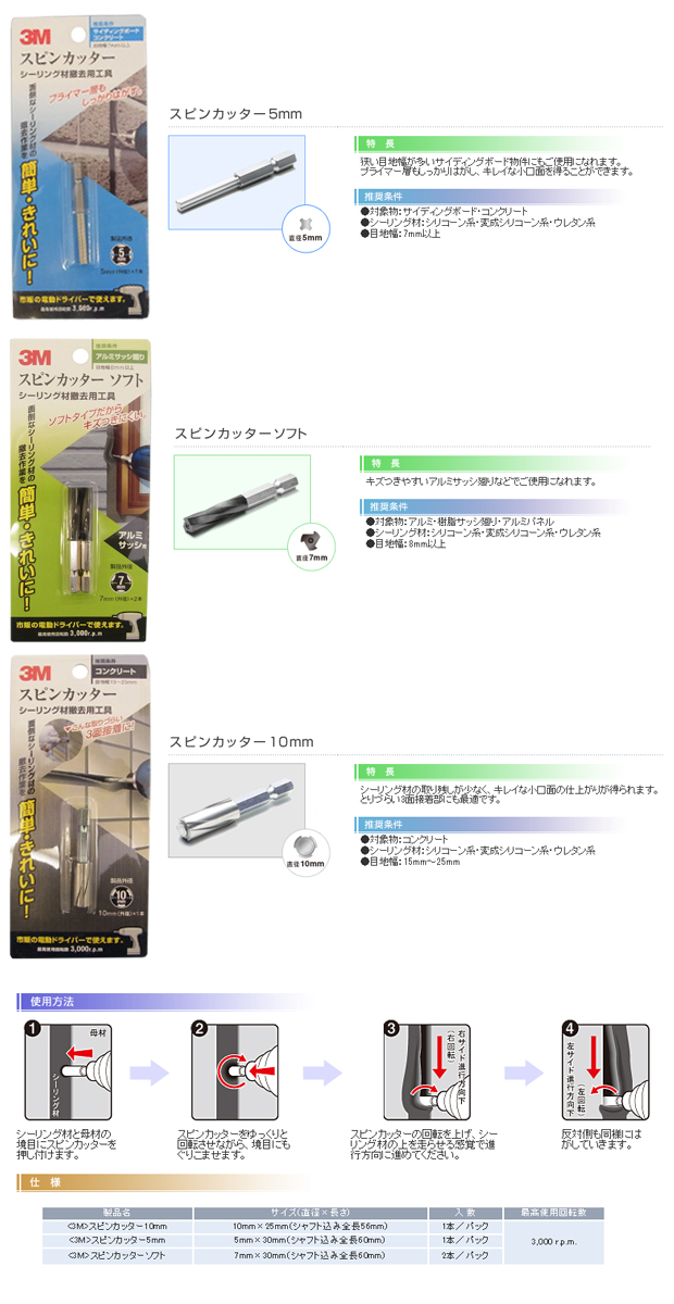 3Mスピンカッター 5・7(ソフトタイプ)・10mm