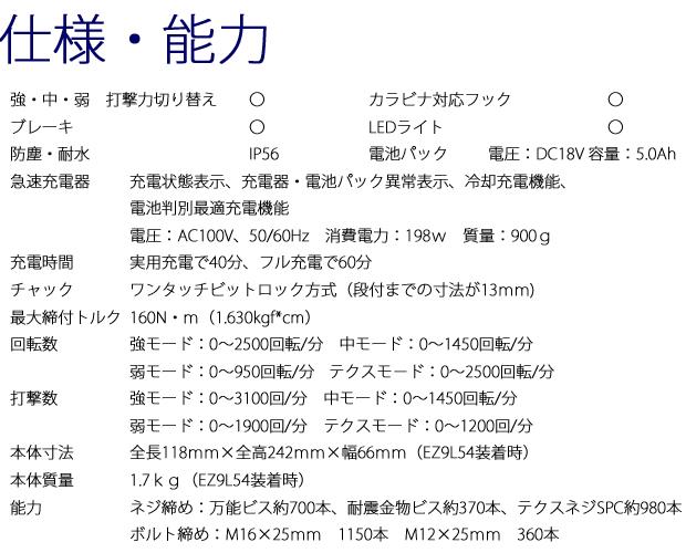 【限定】パナソニック 18V-5,0Ahインパクトドライバ EZ75A7LJ2G
