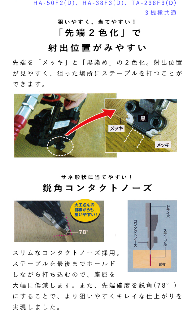 MAX 釘打ち機4MAフロアシリーズ TA-238F3(D)