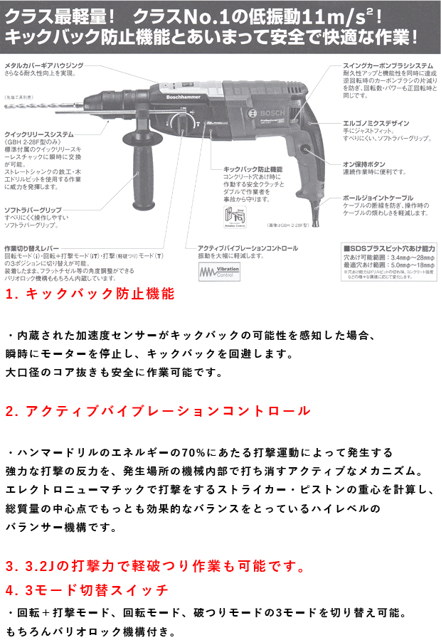 BOSCH ハンマードリルGBH2-28型