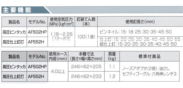 マキタ 高圧仕上釘打 AF552H