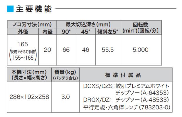 マキタ 165mm 充電式マルノコ HS631DGXS
