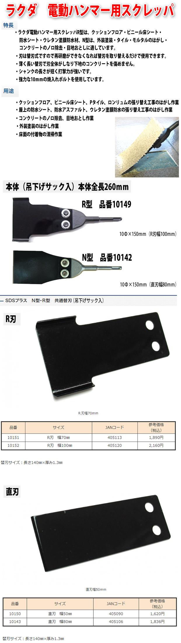 ラクダ SDSプラス電動ハンマー用スクレッパ