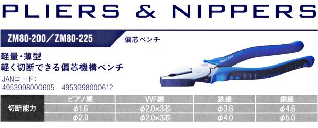 VICTOR PLUS+ 偏心ペンチ ZM80-200/ZM80-225