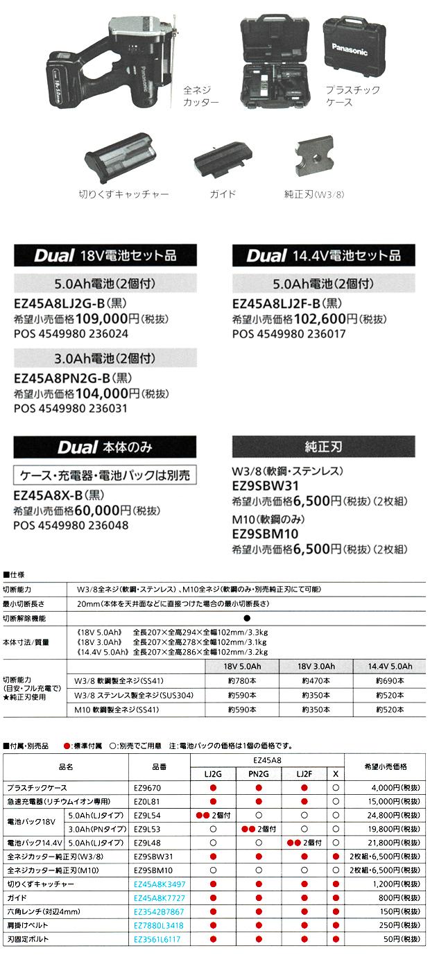 パナソニック 充電全ネジカッター EZ45A8