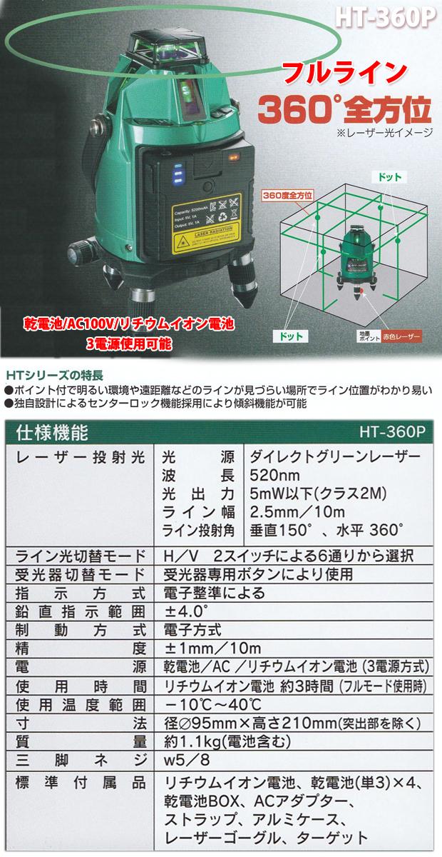 ハンウェイテック グリーンレーザーHT-360P受光器サービス