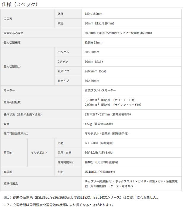 ハイコーキ マルチボルト コードレスチップソー CD3607DA