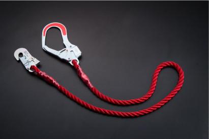 トーヨー 大口フック付ロープ F-0+GH-12(赤)