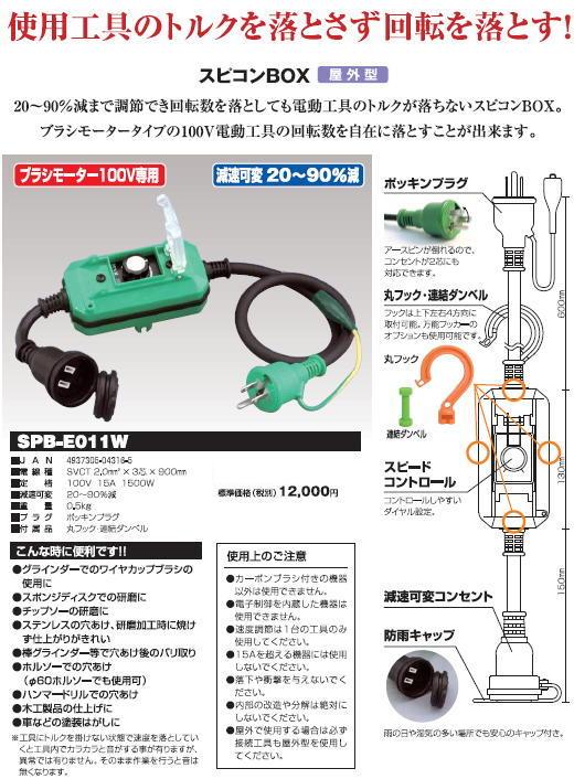 日動工業 スピコンBOX SPB-E011W