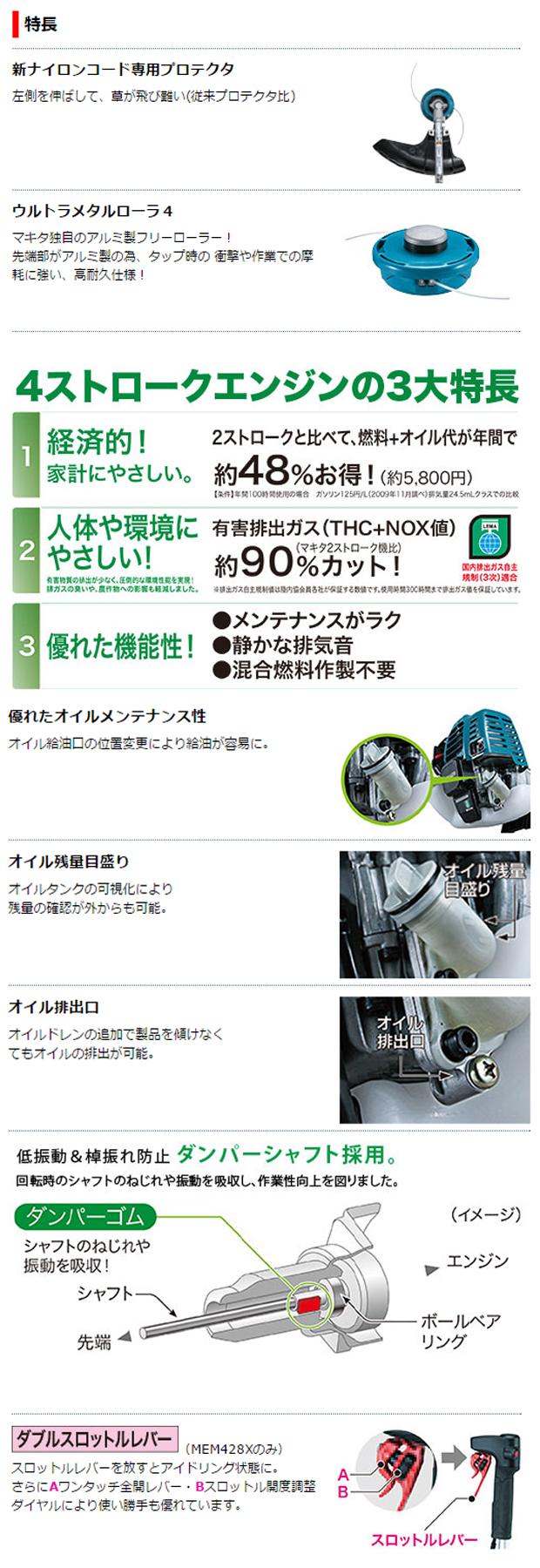 マキタ エンジン刈払機MEM428XC