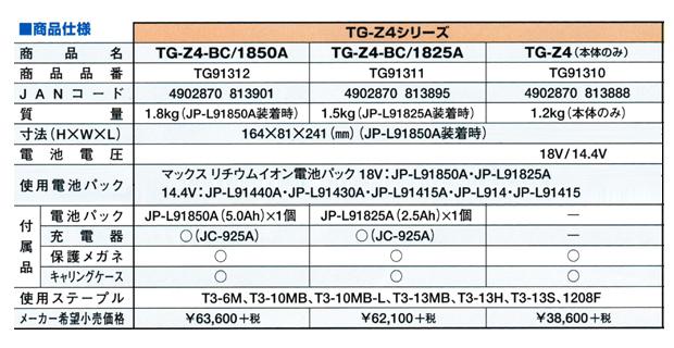MAX 充電式タッカ TG-Z4