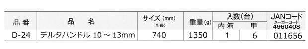 小山刃物製作所 デルタハンドル D-24 10mm~13mm用
