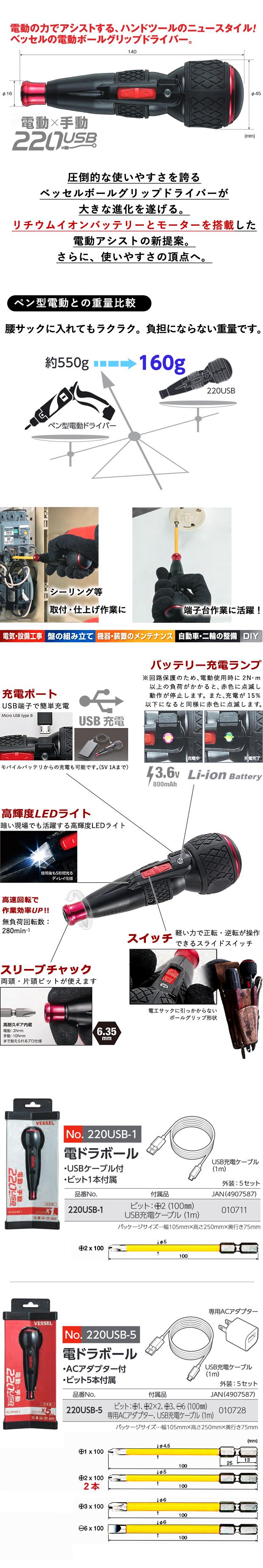 ベッセル 電ドラボール 電動手動両用ドライバー