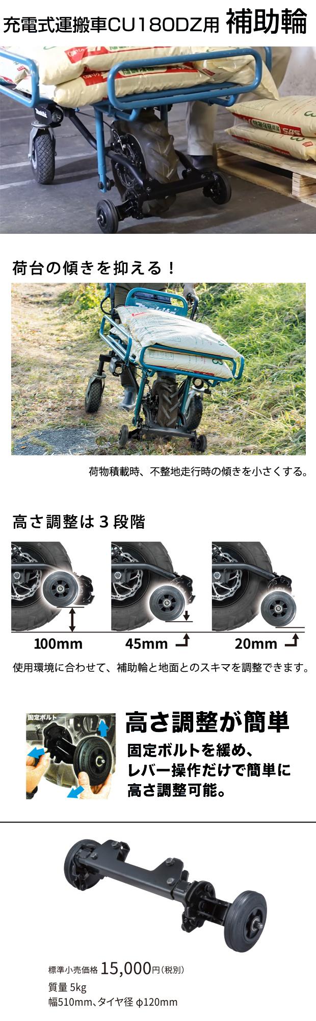 マキタ 充電式運搬車CU180DZ用補助輪 A-68878