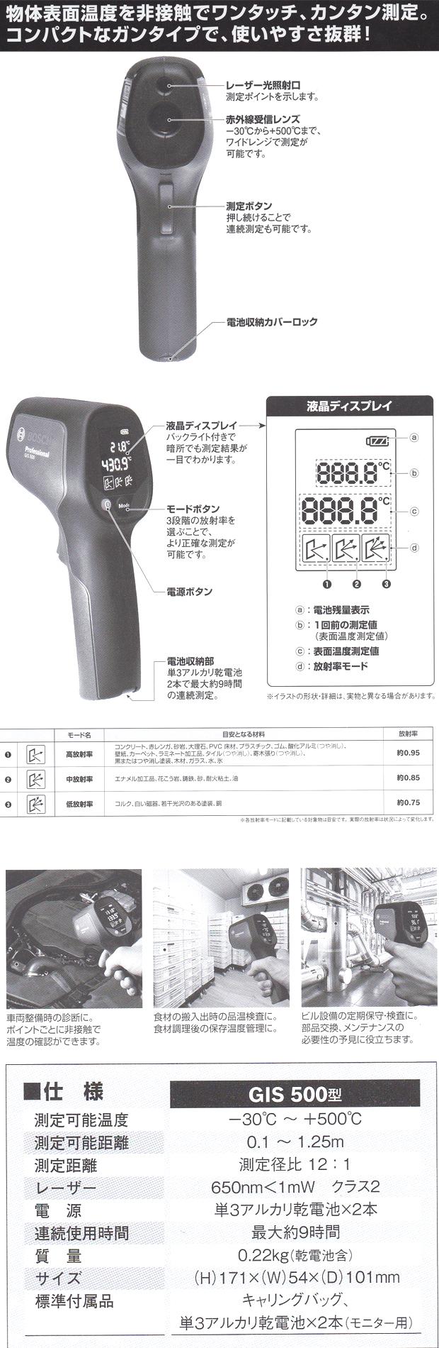ボッシュ放射温度計 GIS500