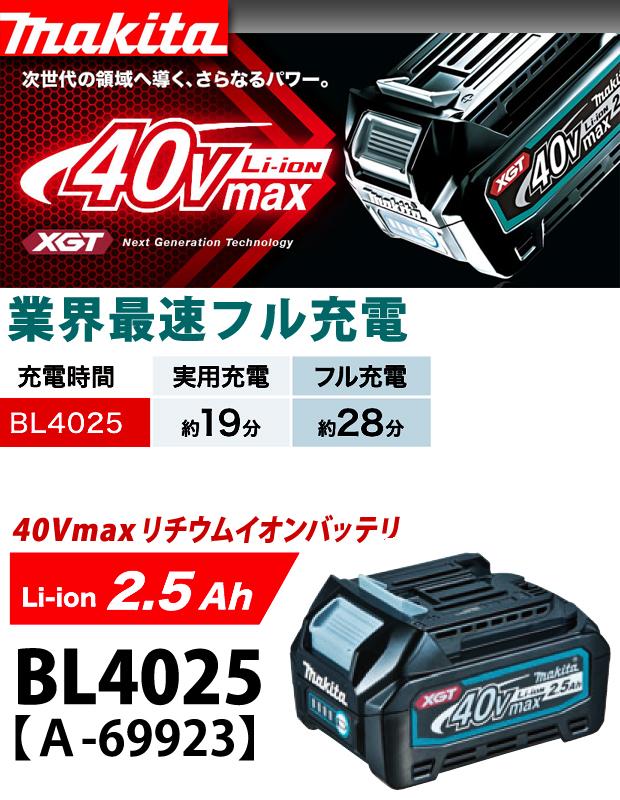 マキタ  40VmaxリチウムイオンバッテリBL4025