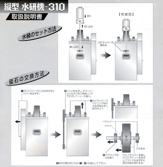 吉岡製作所 水研機-310 (刃物受台サービス付!)